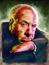 Cartoon: Portrait of Alfred Hitchcock (small) by McDermott tagged alfredhitchcock,movies,horror,suspence,tv,mcdermott