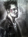 Cartoon: tyler durden (small) by ressamgitarist tagged drawing,portrait