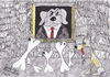 Cartoon: Crisis (small) by cristian constandache tagged world humanity crisis cristian constandache free academy graphic art paula salar romania dog reach poor exhibition gallery ink lines black white cartoon cartoonist child young people creation talented genius watercolor draw sketch teacher master culture m