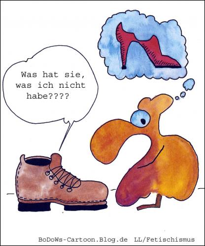 Cartoon: Fetischismus (medium) by BoDoW tagged paar,highheels,schuh,obsession,besessenheit,fetischismus