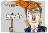 Cartoon: Trump (small) by to1mson tagged usa,amerika,vote,wahl,wybory,donald,trump