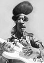 Cartoon: Caricatura Jimi Hendrix (small) by manohead tagged manohead caricatura caricature jimi hendrix