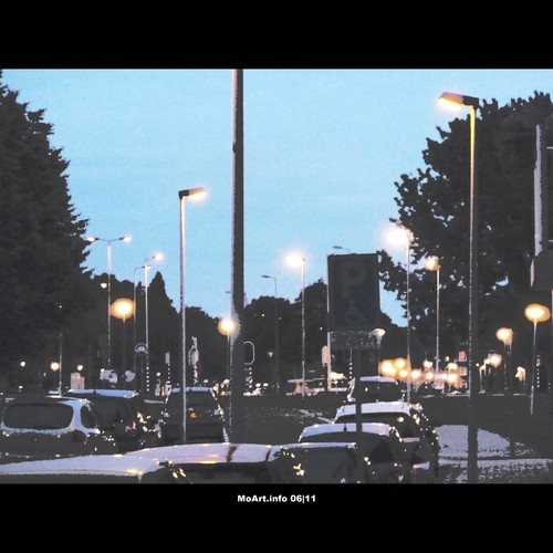 Cartoon: MoArt - NightFall (medium) by MoArt Rotterdam tagged rotterdam,moart,moartcardsw,night,nite,nacht,lights,lichtjes,cars,autos