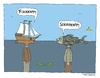 Cartoon: Begegnung (small) by Huse Fack tagged ozean,meer,fisch,schiff,seefahrt