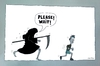 Cartoon: Death Run (small) by Huse Fack tagged tod,death,jogger,laufen