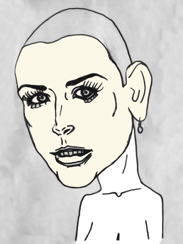 Cartoon: Demi Moore (medium) by Vidal tagged demi,moore