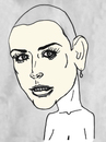 Cartoon: Demi Moore (small) by Vidal tagged demi,moore
