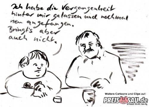 Cartoon: Neubeginn (medium) by preissaude tagged neubeginn