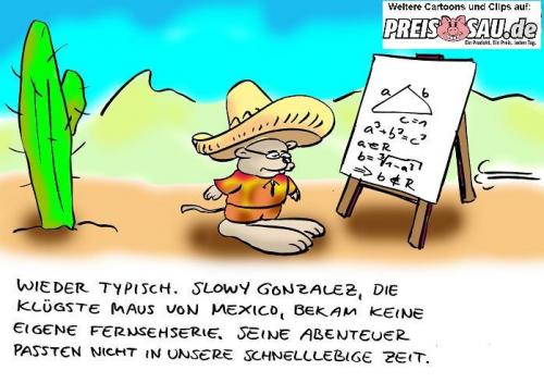 Cartoon: Zu langsam (medium) by preissaude tagged speedy,gonzales