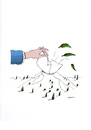 Cartoon: Die Hand (small) by Mehmet Karaman tagged hand,berg,baum