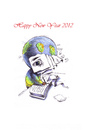 Cartoon: Vom blauen Planeten (small) by Mehmet Karaman tagged happy,new,year