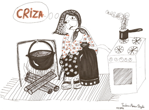 Cartoon: Crises (medium) by teodora bujdei tagged teodora,bujdei,student,free,academy,graphic,art,paula,salar,romania,bucovina,cartoonist,illustrator,woman,man,teacher,family,children,culture,gallery,music,ink,dance,star,vip,exhibition,live,life,god,good,sport,nature,sky,watercolor,creation,draw,paint,work,news,tv,pc,networking,imagination,talented,genius,personality,friend,time,animal,country,america,europe,pen,pencil,social,crises,financiar,money,old,person,cook,book,white,black,prise,diplomas,girl,young,love,fly,train,democracy,cofee,humanity,word