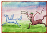 Cartoon: Centaur (small) by Makhmud Eshonkulov tagged centaur