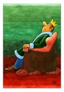 Cartoon: King (small) by Makhmud Eshonkulov tagged king