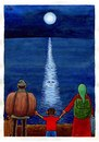 Cartoon: Moonlight (small) by Makhmud Eshonkulov tagged migration