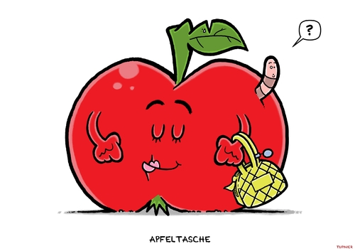Cartoon: Apfeltasche (medium) by Christoon tagged apfel,tasche,obst