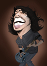 Cartoon: Dave Grohl (small) by Paulista tagged dave,grohl,caricature,foo,fighters