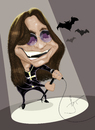 Cartoon: Ozzy Osbourne (small) by Paulista tagged ozzy osbourne caricature black sabbath