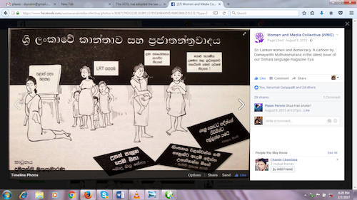Cartoon: women situation in sri lanka (medium) by damayanthi tagged war,bbs,sri,lanka