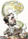 Cartoon: Ahmadinejad_Stuxnet (small) by Bob Row tagged ahmadinejad iran computers israel