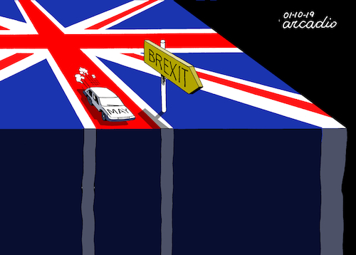 Cartoon: Dangerous Brexit. (medium) by Cartoonarcadio tagged england,europe,euro,union,brexit