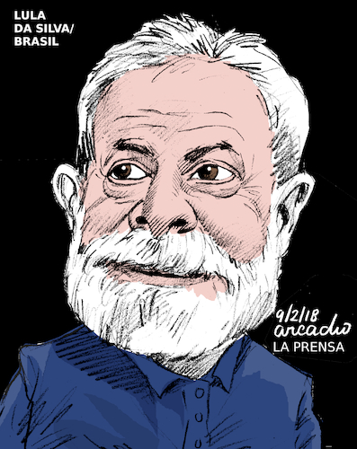 Cartoon: Lula Da Silva-Brazil. (medium) by Cartoonarcadio tagged lula,brazil,latin,america,politicians,elections