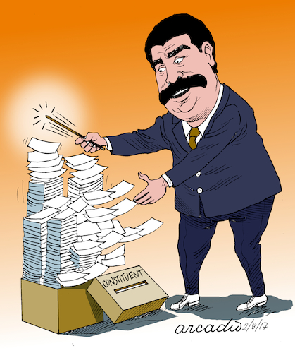 Cartoon: Th multiplication of the votes. (medium) by Cartoonarcadio tagged maduro,venezuela,communism,socialism,dictatorship
