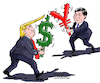 Cartoon: A new cold war. (small) by Cartoonarcadio tagged china us economy asia america war