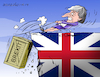 Cartoon: Brexit and May in trouble. (small) by Cartoonarcadio tagged may euro europe economy brexit