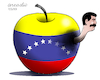 Cartoon: Corruption in Venezuela. (small) by Cartoonarcadio tagged maduro,venezuela,socialism,latin,america