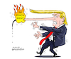 Cartoon: Fire in the nose. (small) by Cartoonarcadio tagged impeachment,white,house,washington,trump