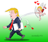 Cartoon: Happy Valentines day Trump. (small) by Cartoonarcadio tagged valentines,day,trump,us,president,love