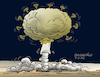 Cartoon: Mass destruction virus. (small) by Cartoonarcadio tagged pandemic virus helth covid 19