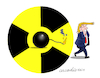 Cartoon: No to nuclear pact with Iran. (small) by Cartoonarcadio tagged iran,nuclear,power,middle,east,israel,trump