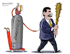 Cartoon: Oxygen to Maduro. (small) by Cartoonarcadio tagged venezuela,dictator,latin,america,maduro