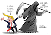 Cartoon: Political death. (small) by Cartoonarcadio tagged trump,usa,us,elections,biden