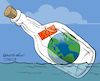 Cartoon: SOS Planet Earth (small) by Cartoonarcadio tagged planet,earth,global,warming,climate,change