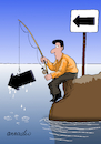 Cartoon: Surrealist fishing. (small) by Cartoonarcadio tagged humor,cartoon,laugh,enterteinment
