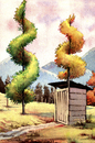 Cartoon: Surrealist trees (small) by Cartoonarcadio tagged trees,surrealism,watercolor,nature