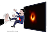 Cartoon: Testing the black hole discovere (small) by Cartoonarcadio tagged maduro,venezuela,black,hole,communism