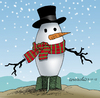 Cartoon: The snowman (small) by Cartoonarcadio tagged christmas war conflicts