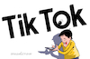 Cartoon: Tik Tok looking at you. (small) by Cartoonarcadio tagged social,net,china,internet