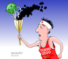 Cartoon: TOKYO 2020 POSTPONED. (small) by Cartoonarcadio tagged tokyo,2020,sports,olympic,games,japan