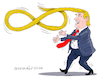Cartoon: Trump and the infinite power. (small) by Cartoonarcadio tagged trump,us,government,oresident,xi,jinping