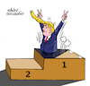 Cartoon: Trump loose. (small) by Cartoonarcadio tagged trump,us,elections,democracy,america