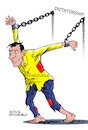 Cartoon: Venezuela and the dictatorship. (small) by Cartoonarcadio tagged venezuela,dictatorship,socialism