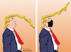 Cartoon: With mask and with no mask. (small) by Cartoonarcadio tagged trump presidential run democracy political parties