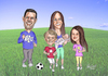 Cartoon: BYU Family Jogging (small) by Harbord tagged family,active,soccer,byu,jogging