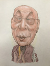 Cartoon: Dalai Lama caricature (small) by Harbord tagged dalai,lama,buddhist