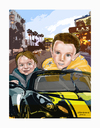 Cartoon: Mason and Mattias (small) by Harbord tagged mason,mattias,grandkids,caricature,racers